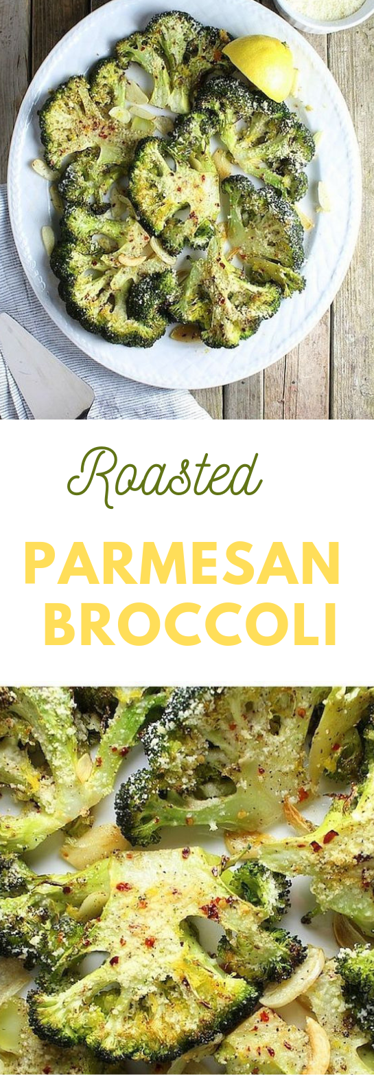 ROASTED PARMESAN BROCCOLI #vegetarian #parmesan