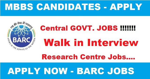 BARC Recruitment – 16 Resident Medical Officer & Junior/Senior Resident Doctor Vacancy