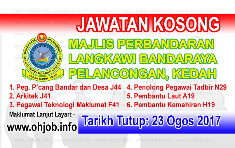 Jawatan Kerja Kosong Majlis Perbandaran Langkawi - MPLBP logo www.ohjob.info ogos 2017