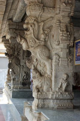 Yali or Simha-vyala carved on the pillars of the Venugopala Swamy Temple, Bangalore