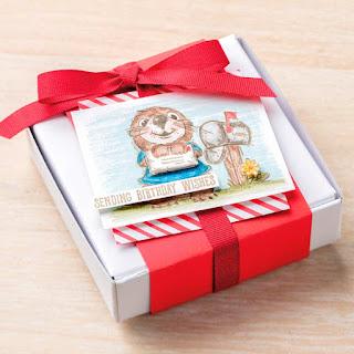 3 Mini Pizza Box Projects ~ Stampin' Up! Postcard Pals
