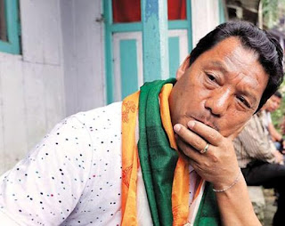 Bimal Gurung in sad mood