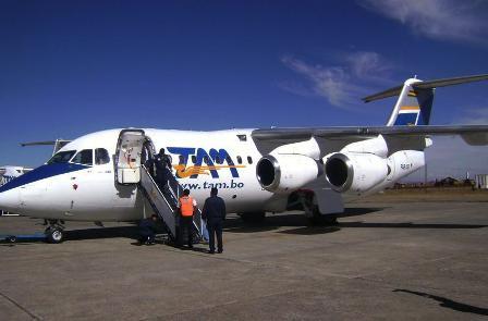 Aviones en Bolivia