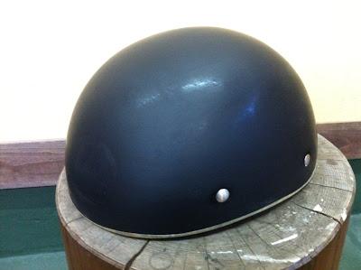 1327879653 - カスタムペイント工程  バッドボーンヘルメット シルバーリーフ スピニング