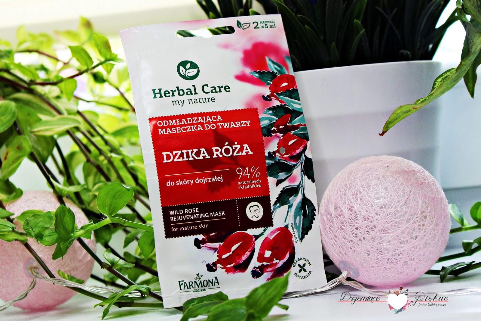 ShinyBox Pretty Happy You - maj 2017 | Zawartość - opinie | Herbal Care odmładzająca maseczka do twarzy z dziką różą