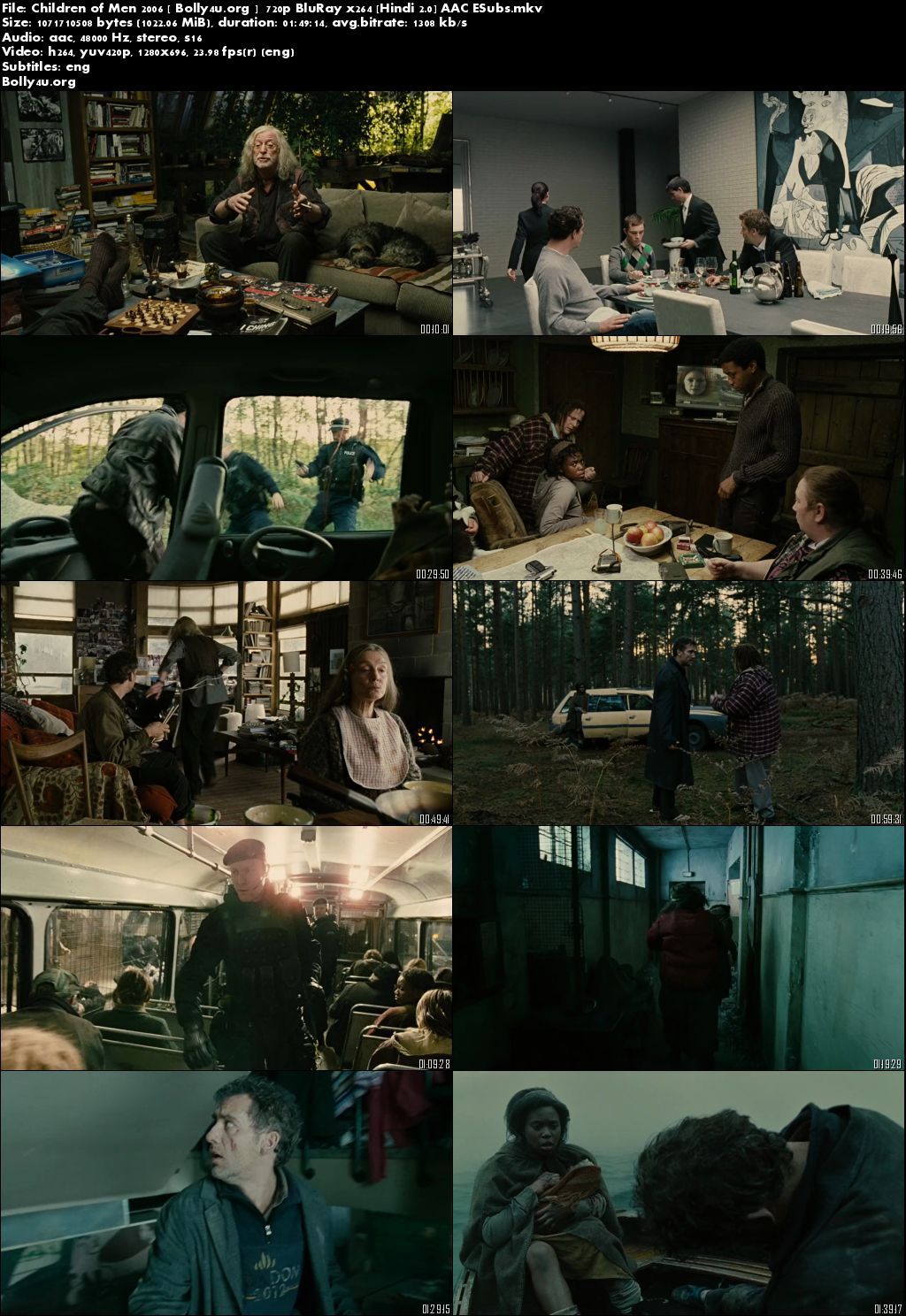 Children of Men 2006 BRRip 720p Hindi Dubbed 999MB ESub Download