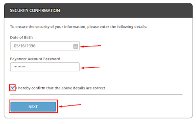 Security Confirmation