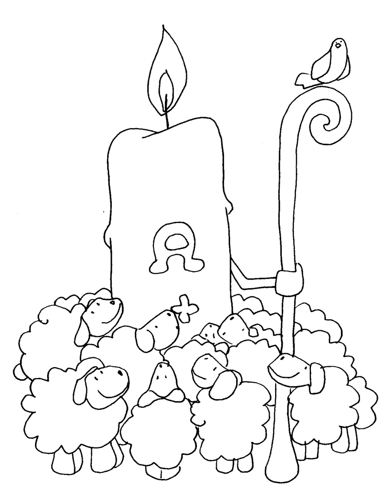 Dorable Pascua Para Colorear Páginas Educación Religiosa Cresta ...