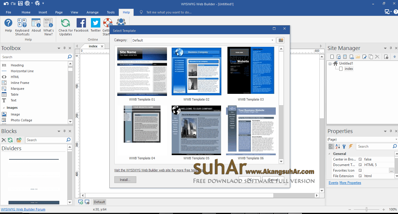Gratis Download WYSIWYG Web Builder Full Version Terbaru
