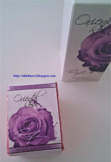 refan kozmetik, peeling, sabun, soap, blog, blogger, sihirlimavi, oriental rose, rose, peeling sabunu