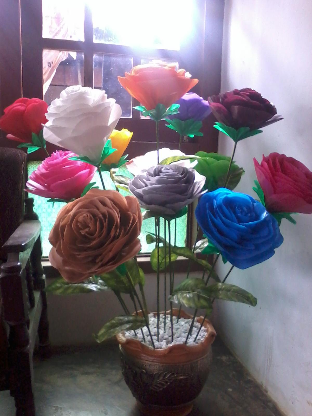 Bunga dari Kantong plastik alias kresek  welcome My