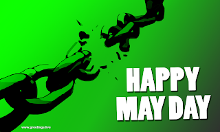 Happy May Day 2019 Celebrations Image Theme Freedom from Chains.