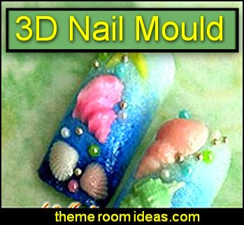 3D nail decoration -  Conch Shellfish Acrylic Nail Art Mold - nail decorations