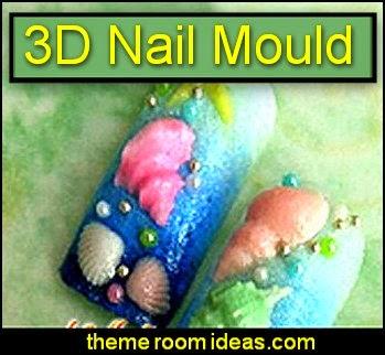3D nail decoration -  Conch Shellfish Acrylic Nail Art Mold - nail decorations