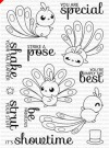 Clearly Besotted STRUT YOUR STUFF Clear Stamp Set