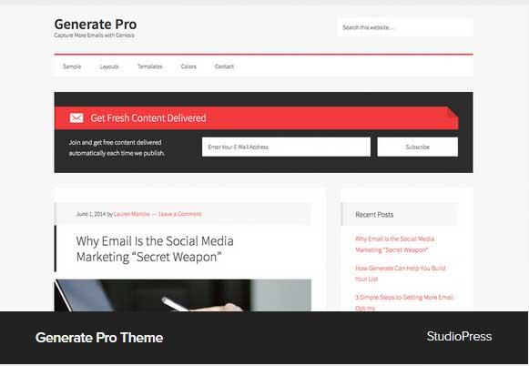 Generate Pro Theme Award Winning Pro Themes for Wordpress Blog :Award Winning Blog