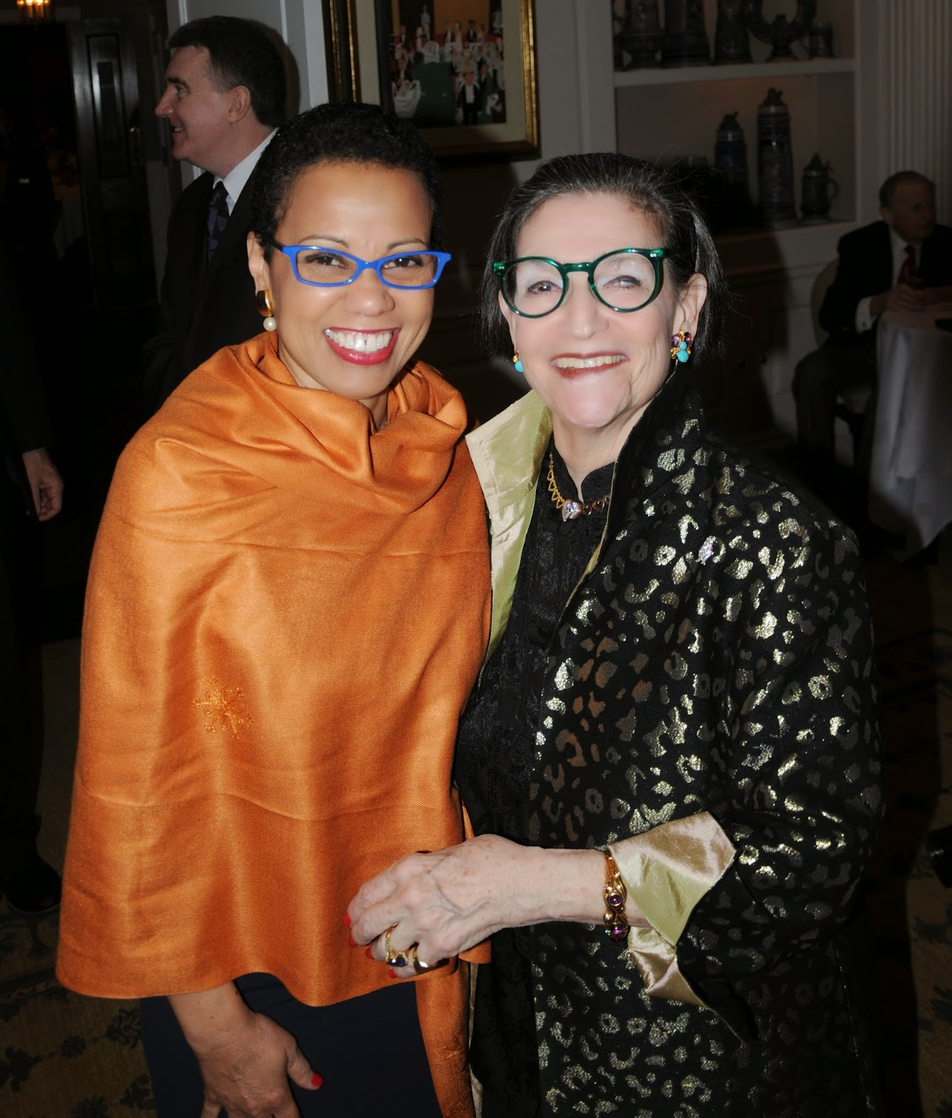 Karen with Harolyn Blackwell (New York, March 2014)