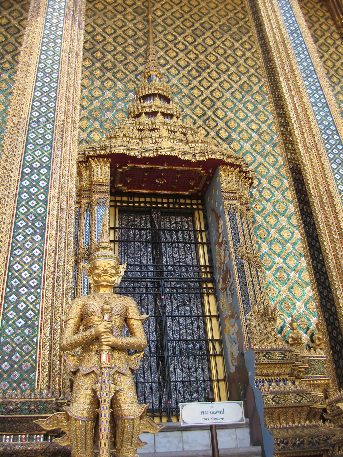 Gold details of the Grand Palace in Bangkok, Thailand