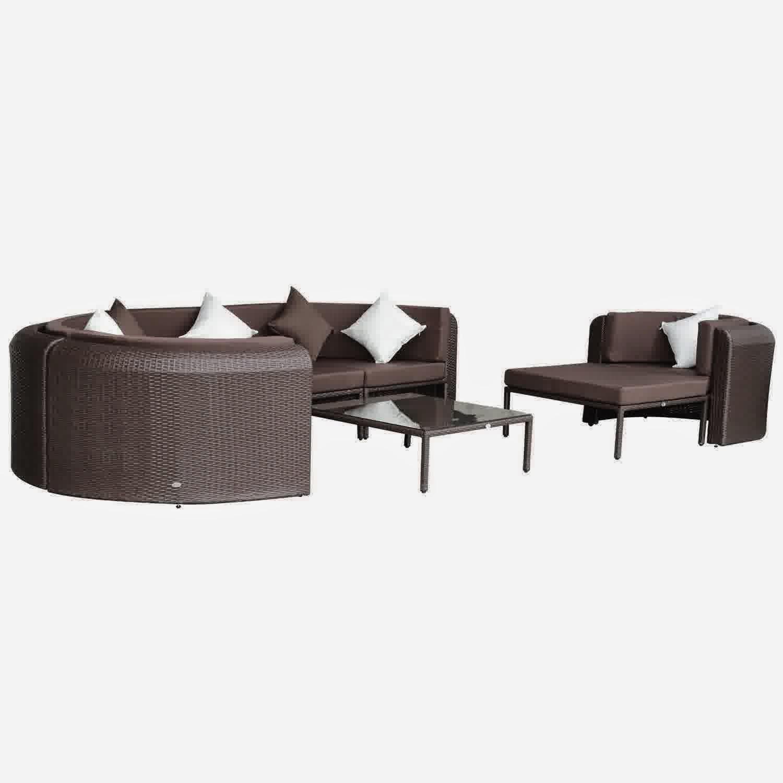 rattan half moon sofa set big fluffy sofas special sale discount 65 outsunny 8pc outdoor pe