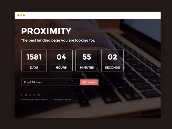 Proximity HTML5 Under Construction Website Template