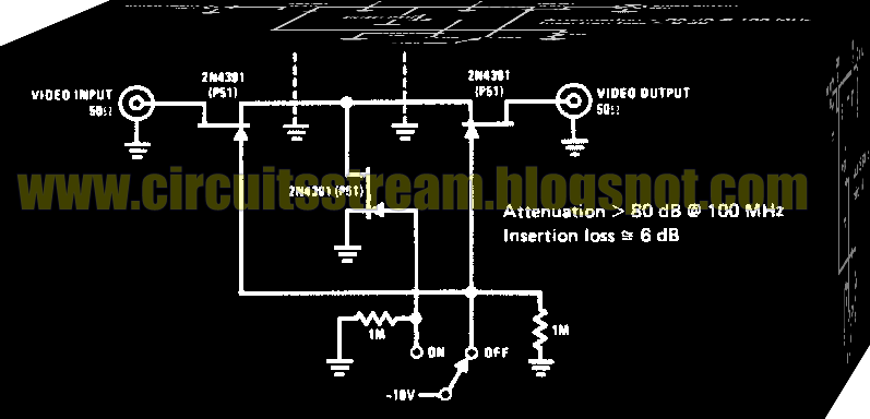 Electronic High Frequency Switch Circuit Diagram
