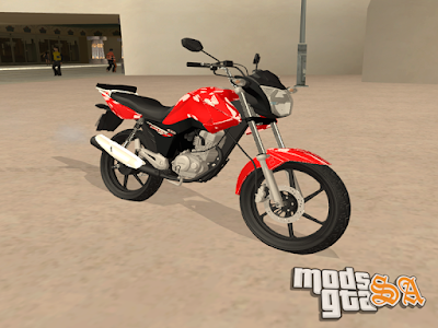 Honda CG 150 Fan 2015 + Ronco para GTA San Andreas