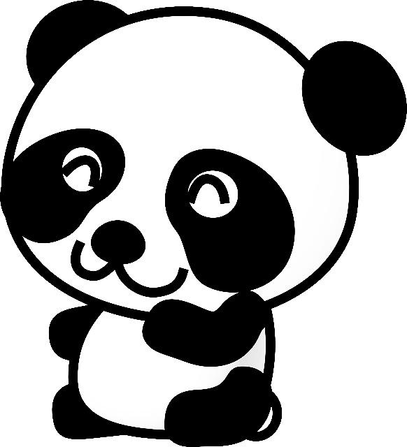 Bir Gun Gulumse Dev Panda Bear In Boyama Sayfalari