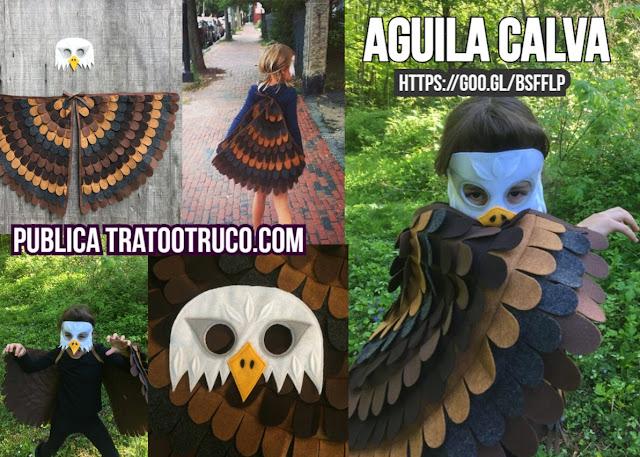 disfraz de águila calva hecho a mano