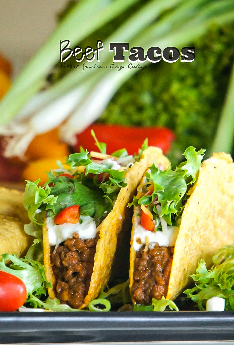 Delicious homemade beef tacos with korean flare
