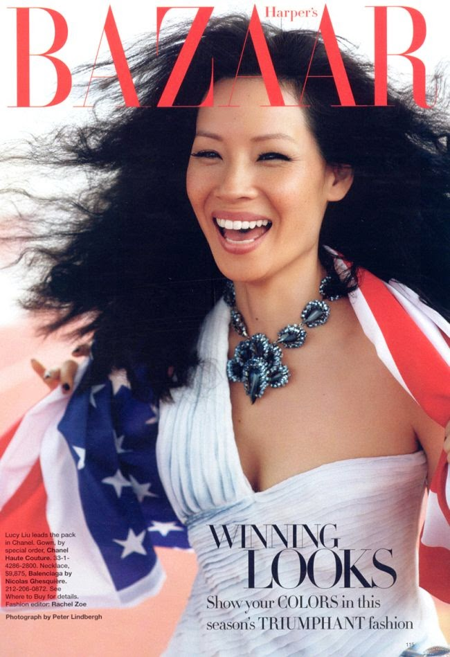 Lucy Liu by Peter Lindbergh for Harper's Bazaar (August 2008) | Ses Rêveries