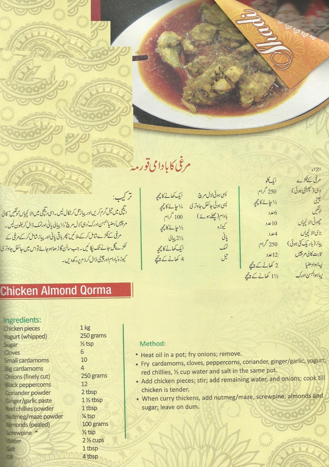 What is the Meaning of recipe in Urdu - DriverLayer Search Engine