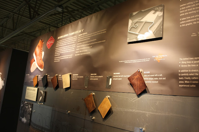 Learning about leather used for boots in Red Wing, Minnesota.