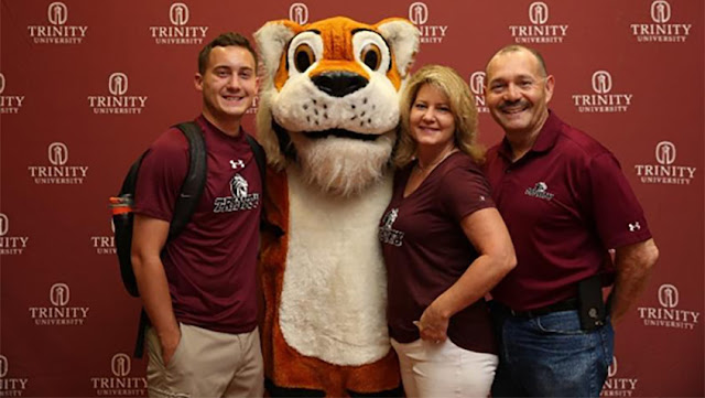Guerrero family with LeeRoy tiger mascot