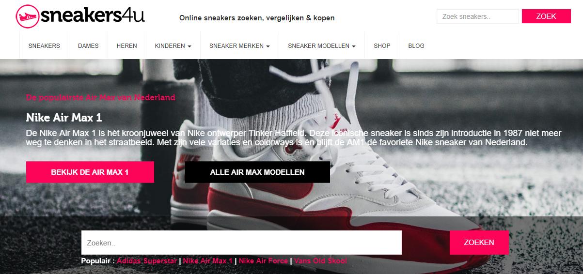 8f850f08de5 Ik testte het uit en ik ging op zoek naar Nike Air Max sneakers, om een  voorbeeld te nemen. Via de website krijg je een overzicht waarbij je meteen  ziet ...