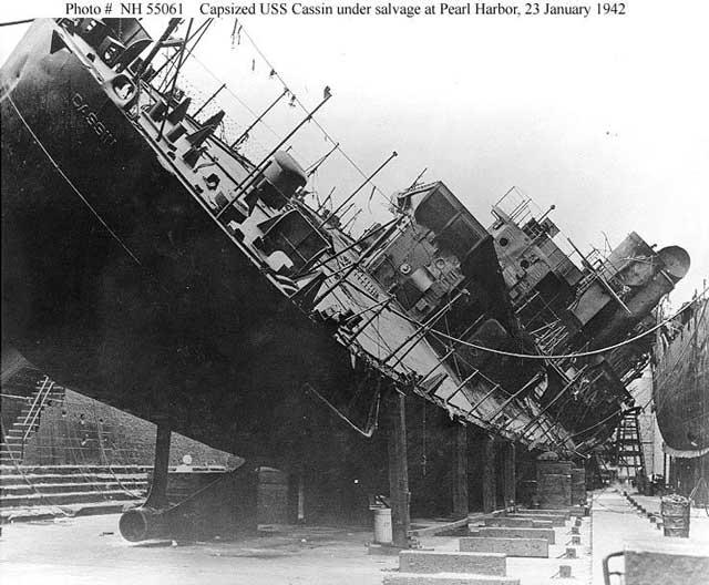 USS Cassin, 23 January 1942 worldwartwo.filminspector.com
