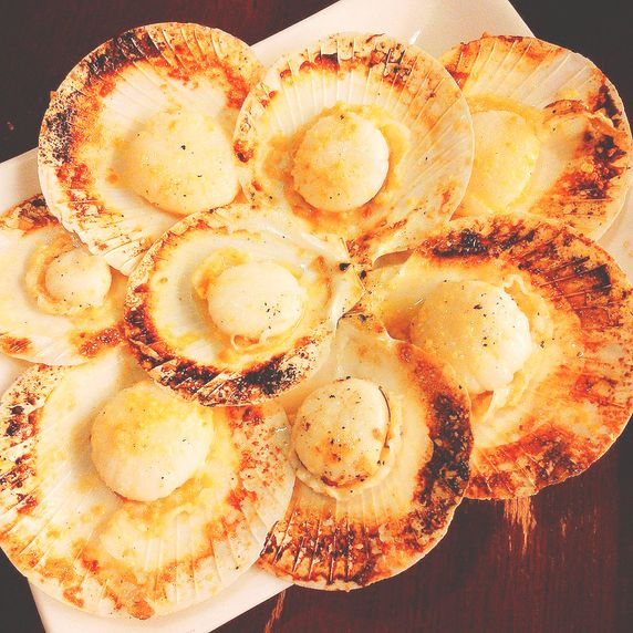 Baked scallops from the Visayas