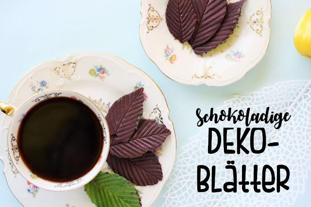 DIY Schoko Deko: Zitronenblätter selber machen