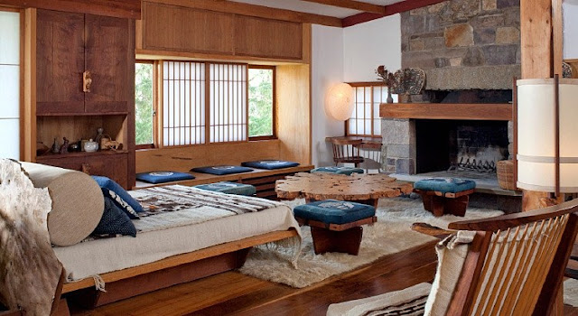 George Nakashima's Reception House Interior