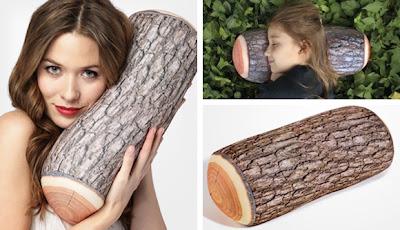 Cojin en forma de tronco