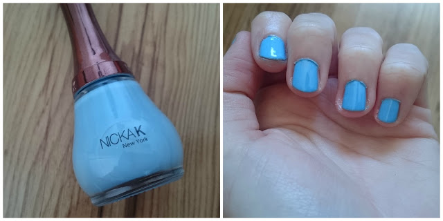 Nicka K Sky Blue Nail Varnish Swatch