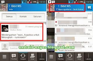 Cara mudah aktifkan update status musik BBM Android