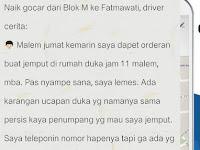 Driver Gocar Jemput Pelanggan di Rumah Duka Jam 11 Malam, Ternyata Penumpangnya...