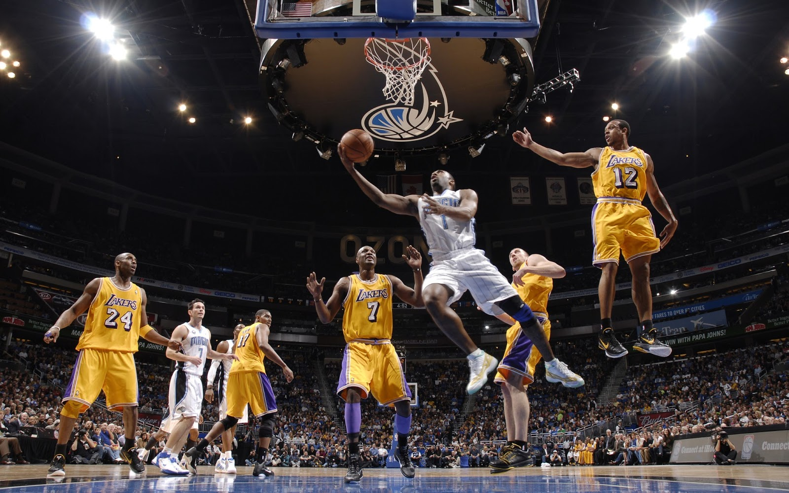 Fondo de Pantalla Baloncesto Lakers vs Magic