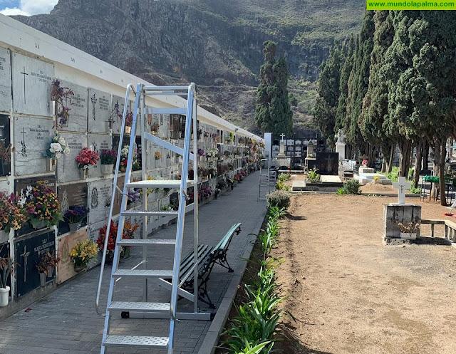 El Ayuntamiento de Santa Cruz de La Palma prepara el cementerio para el día 1 de noviembre