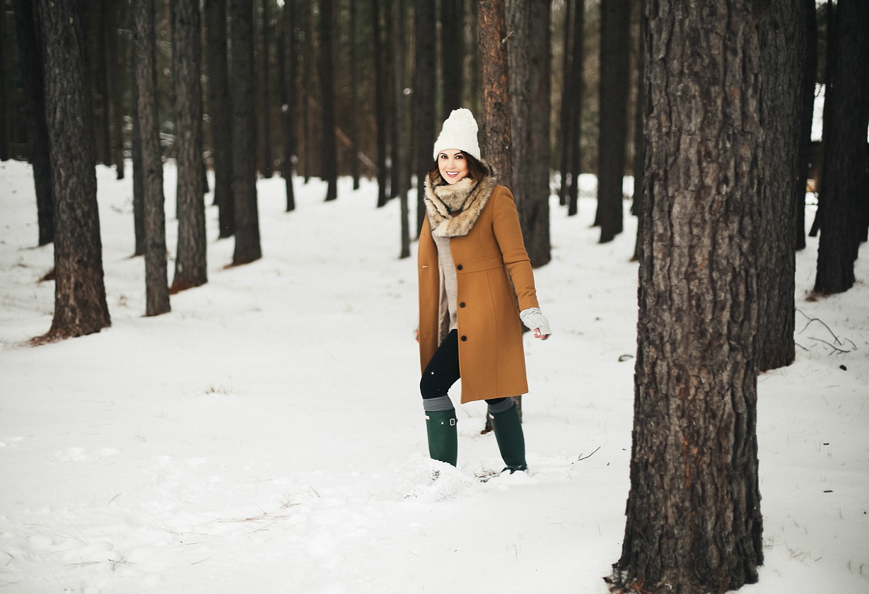 j crew lady day coat outfit
