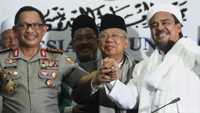 Habib Rizieq dan KH Ma'ruf Amin
