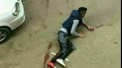 لحظة مقتل الشاب