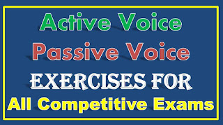 Active Voice and Passive Voice for Competitive Exams