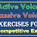 Active Voice and Passive Voice for Competitive Exams SSC Exams