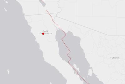 sismo de 5.2 grados en la escala de Richter sacudió la península de Baja California, 20 de Diciembre 2013